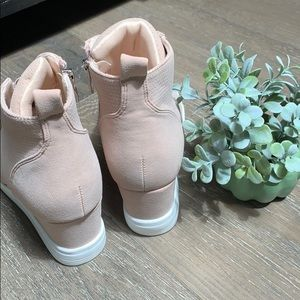sewchicboutique Shoes - Zoey Wedge Sneakers in Blush Pink